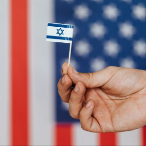 israel and USA flags